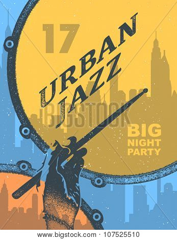 Jazz music party invitation design vector illustration