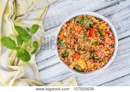 Bulgur Salad (with Vegetables)