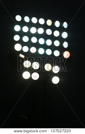 Tower Floodlights With Many Spotlight