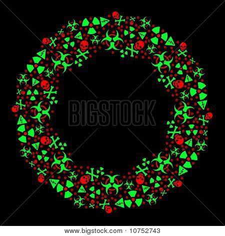 Goth warning Christmas wreath