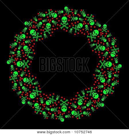 Poison Christmas Wreath