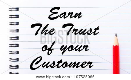 Earn The Trust Of Your Customer