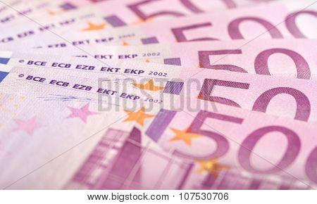 500 euros bills background