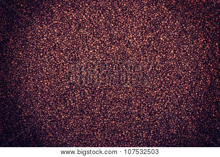 Coffee brown roasted grains texture