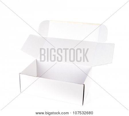 White box on a white background