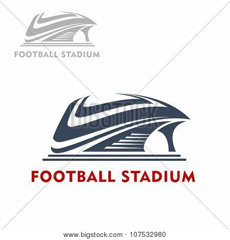Abstract modern sports stadium icon