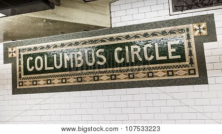 Columbus Circle Subway Station In Manhattan