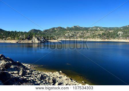 Rocky Desert Reservoir
