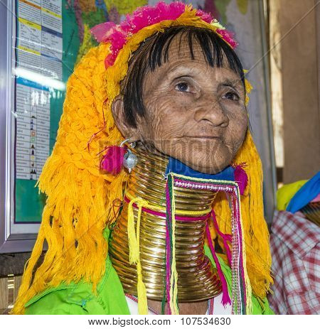 Portrait Of Padaung Tribe Woman