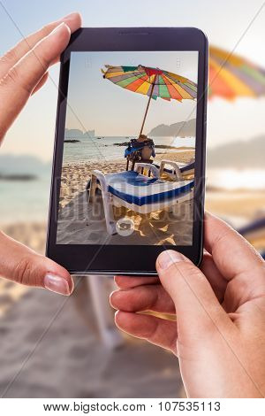 Photographing A Beach Lounge