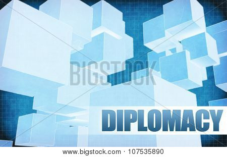 Diplomacy on Futuristic Abstract for Presentation Slide