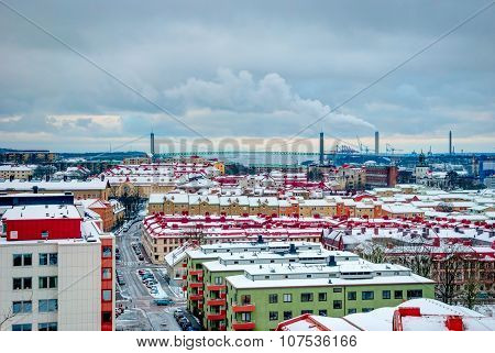 Gothenburg Skyline In Winter, Hdr Photo