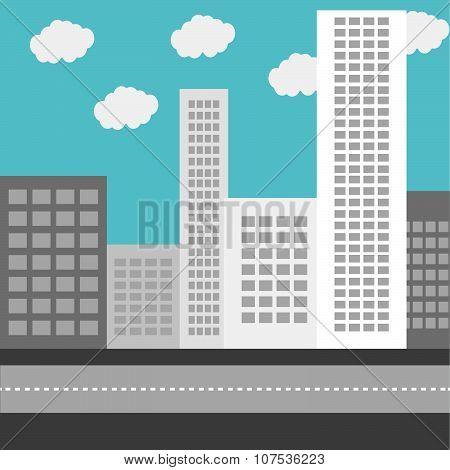 Business urban district building