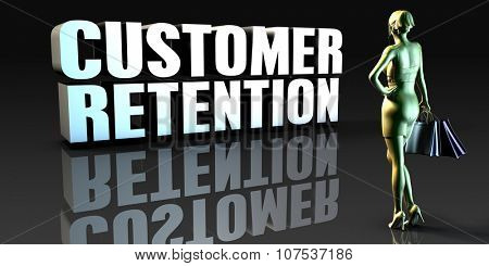 Customer Retention as a Concept with Lady Holding Shopping Bags