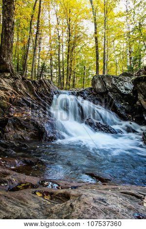 Waterfall inside forest