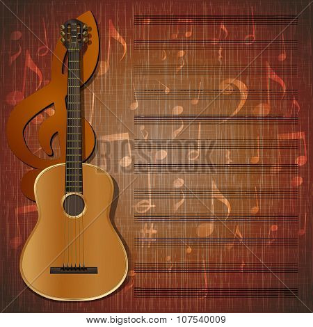 musical background guitar frame uno