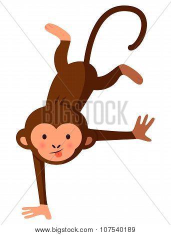 Funny Crazy Monkey, Vector Illustration