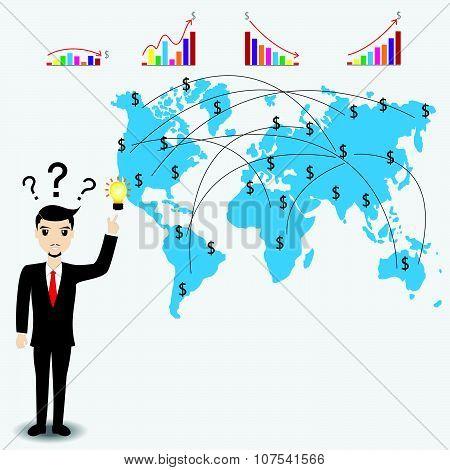 Businessman Thinking Work Plan