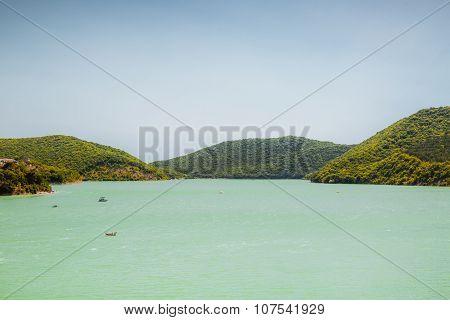 View of the lake Abrau