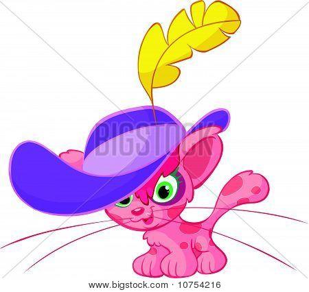 cute pink cat