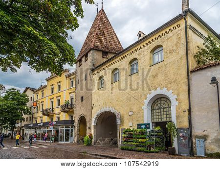 Gate Kreuztor - Entrance To Old City Of Bressanone.