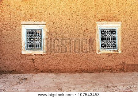 Kasbah window in Morocco, Africa