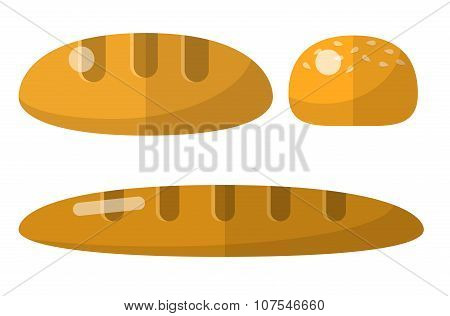 Bread flat icons set. Bread icons. Bread icons set. Bread icons vector. Bread icons illustration. Bread icons isolated. Bread icons flat. Bread icons art. Bread icons pictures