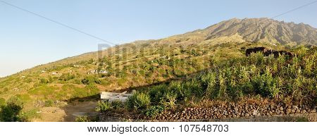 Cornfields On The Mountain Top Town Of