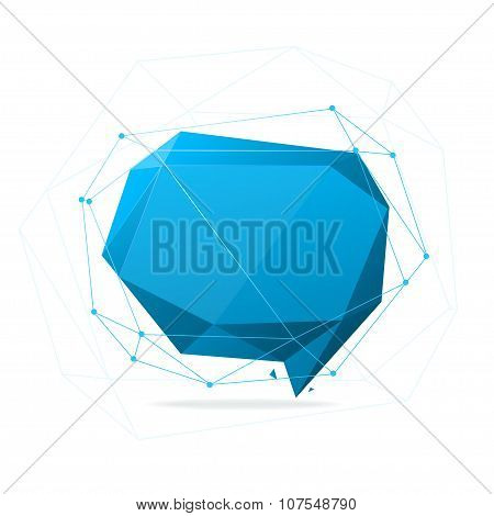 Geometry Speech Bubble Abstract. Vector