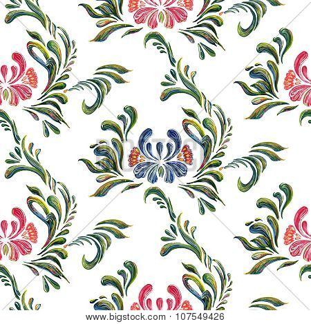 Seamless pattern with floral background. Vector floral pattern.