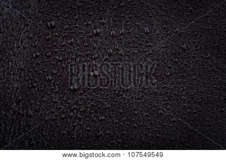 Black Leather With Water Droplets