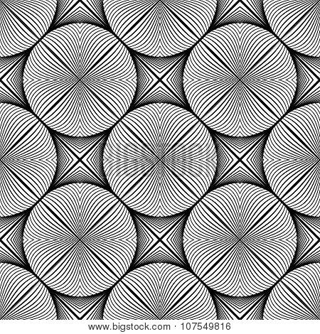 Design Seamless Monochrome Ellipse Pattern