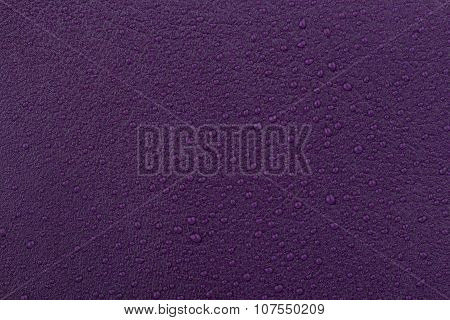 Vinous Leather With Water Droplets