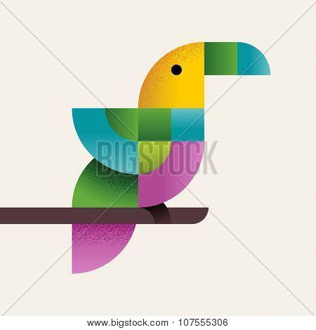 Tropical bird, eps10 vector