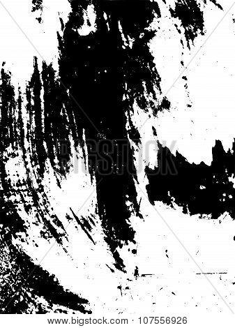 Brush Stroke Grunge Element Background On White