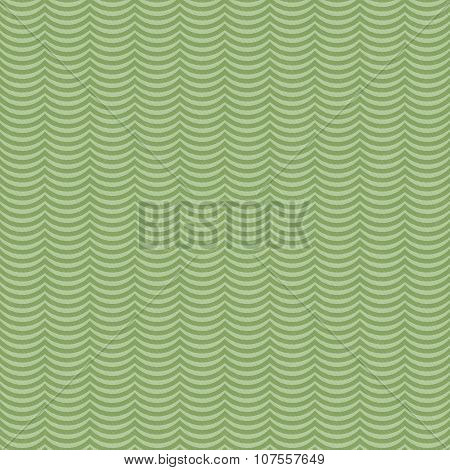 Green Wavy Stripes Tile Pattern Repeat Background