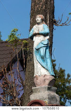 WIELICZKA, POLAND - OCTOBER 8, 2015:Old Wayside shrine in Wieliczka near Cracow. Poland
