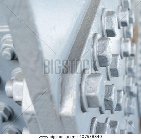 Gray Painted Hexagonal Bolt Heads