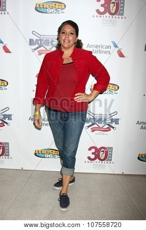 LOS ANGELES - NOV 7:  Diana Maria Riva at the Adrian Gonzalez's Bat 4 Hope Celebrity Softball Game PADRES Contra El Cancer at the Dodger Stadium on November 7, 2015 in Los Angeles, CA