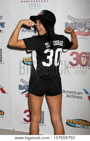 LOS ANGELES - NOV 7:  Cassie Scerbo at the Adrian Gonzalez's Bat 4 Hope Celebrity Softball Game PADRES Contra El Cancer at the Dodger Stadium on November 7, 2015 in Los Angeles, CA