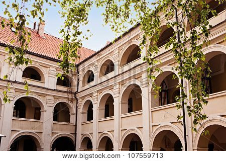 One Of Vilnius University Courtyards In Vilnius, Lithuania
