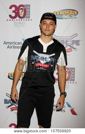 LOS ANGELES - NOV 7:  Blair Redford at the Adrian Gonzalez's Bat 4 Hope Celebrity Softball Game PADRES Contra El Cancer at the Dodger Stadium on November 7, 2015 in Los Angeles, CA