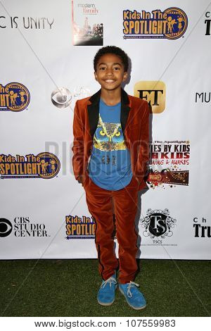 LOS ANGELES - NOV 7:  Miles Brown at the Kids In The Spotlight's Movies By Kids, For Kids Film Awards at the Fox Studios on November 7, 2015 in Century City, CA
