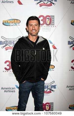 LOS ANGELES - NOV 7:  Nomar Garciaparra at the Adrian Gonzalez's Bat 4 Hope Celebrity Softball Game PADRES Contra El Cancer at the Dodger Stadium on November 7, 2015 in Los Angeles, CA