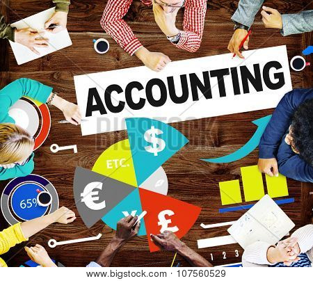 Accounting Investment Expenditures Revenue Data Report Concept