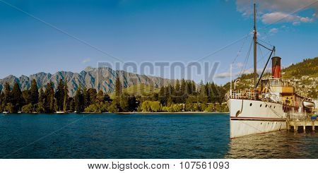 Queenstown New Zealand Lake Landscape Concept