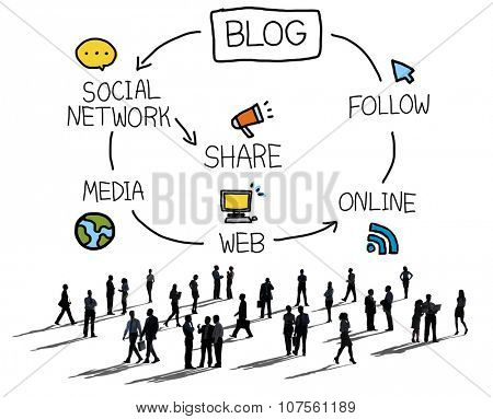 Blog Blogging Comunication Connect Data Social Concept