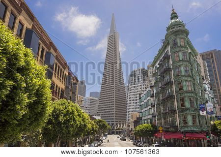 Transamerica bank building in San Francisco