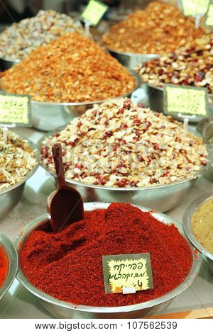 spices for hot meat, for grill and barbeque