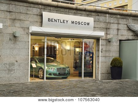 The Bentley showroom in the centre of Moscow.00